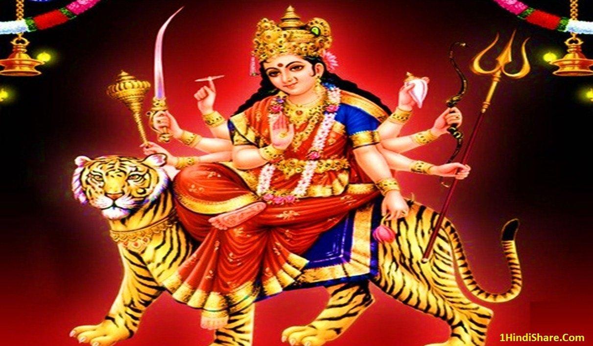 Happy Navratri Image Durga Pooja Photo Picture HD Wallpaper Download Hindi